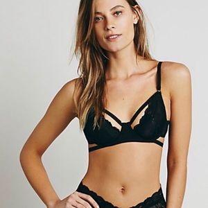 Free People Dream of Me black strappy bra